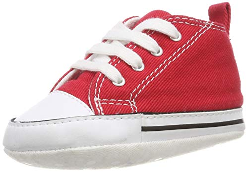 Converse Baby First Star High Top Sneaker, red, 1 M US Infant