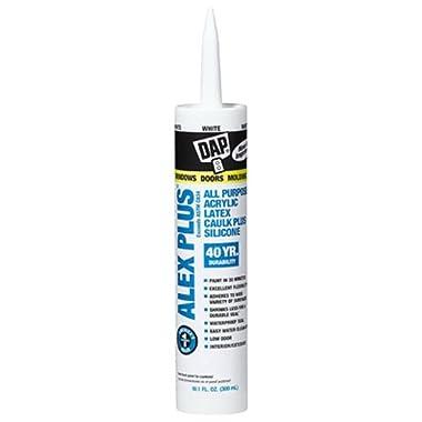 DAP INC 18152 10.1oz White Alex Plus Acrylic Latex Caulk with Silicone set