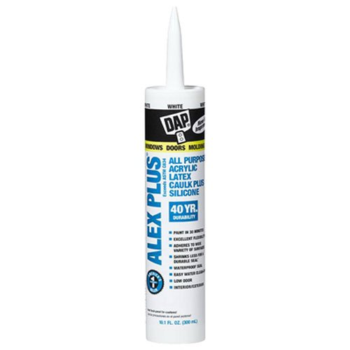 DAP INC 18152 10.1 Oz. White Alex Plus Acrylic Latex Caulk with Silicone