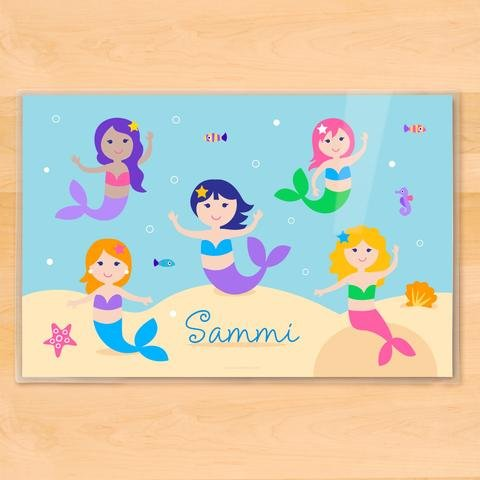 Kids Personalized Placemat - Mermaids (Olive Kids Personalized Placemat)