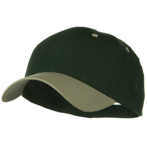 - Otto Caps Two Tone Cotton Twill Low Profile Strap Cap - Khaki Dark Green