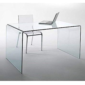 Eckschreibtisch glas  Lounge-Zone Glass Design Desk Chalet Fromgebogenes Safety Glass ...