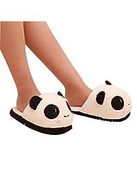 XILALU Women Men Lovely Panda Winter Warm Plush Antiskid Indoor Home Slippers