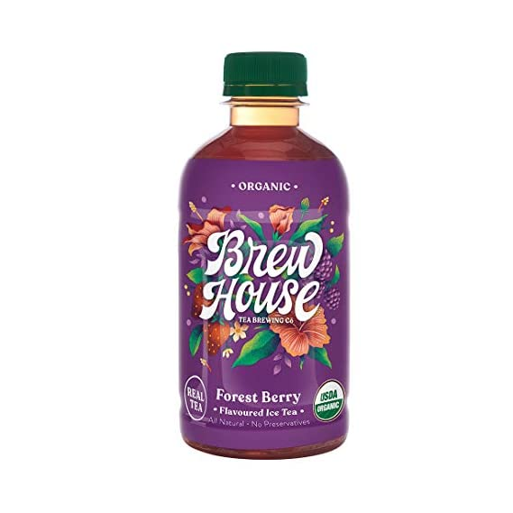 BrewHouse Tea Brewing Co. Naturally Brewed Organic Ice Tea - Forest Berry, 300 ml (Pack of 6)
