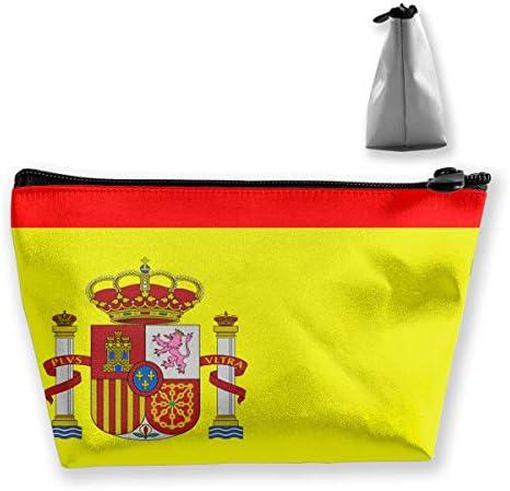 Bolsa de Maquillaje Bandera de España Bolsas de cosméticos de Viaje Bolsa de Cepillo Bolsa de Maquillaje: Amazon.es: Equipaje