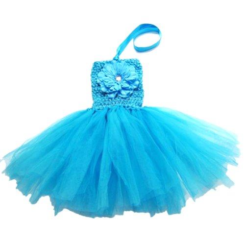 Buenos Ninos Baby Girls TUTU Crochet Tube Top Pettiskirt (Blue)