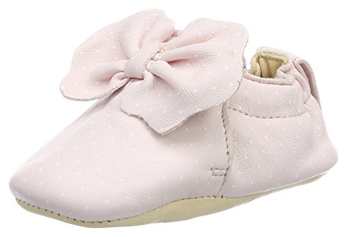 Easy Peasy Blumoo Noeud - Zapatillas de casa Bebé-Niños Pink (rose pale/plumetis blanc)