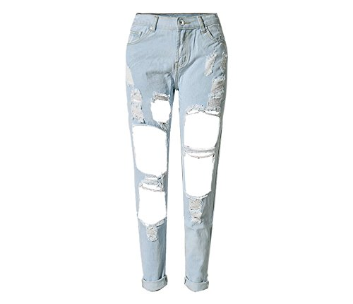 Mezclilla De Agujero Moda White Nueve Blue2 Size Diseño color Sueltos Rectos Pantalones Rusas Xl Hubingrong Las Mujeres 5d0wxYSS