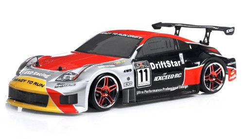 2.4Ghz Brushless Version Exceed RC Drift Star Electric Powered RTR Remote Control Drift Racing Car 350 Red Style