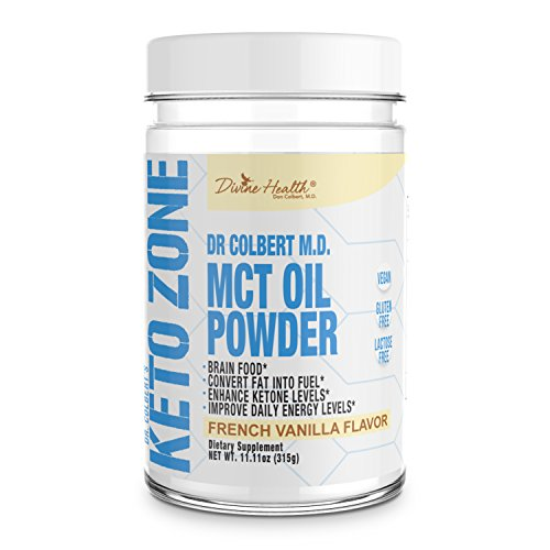 - Dr.Colbert's Keto Zone MCT Oil Powder Vanilla Flavor -Burns Fat And Uses As Fuel Ketogenic Medium-Chain Triglycerides ,All Natural -Delicious Alternative Coffee and Creamer - Dairy Free-Zero Net Carbs