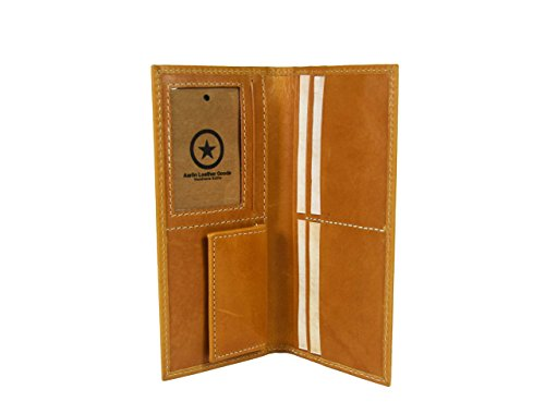 - RFID Blocking Leather Wallet Long for women By Aaron Leather Goods (Canary Yellow)