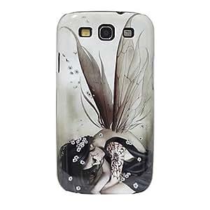 CL - Agitando The Girl Caso duro del patrón Alas para Samsung Galaxy S3 I9300