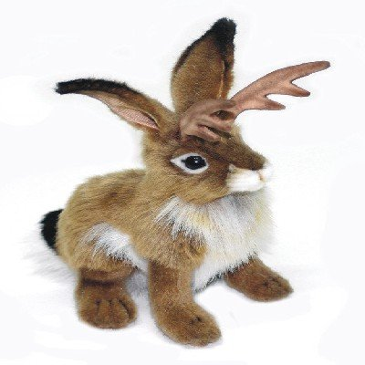 """Hansa Jackalope Plush Animal Toy, 9"""" for sale  Delivered anywhere in USA"""