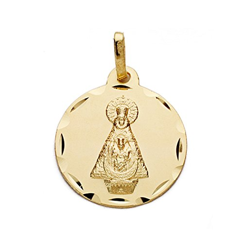 18k médaille d'or Vierge de Tiscar 18mm. [AA0608]