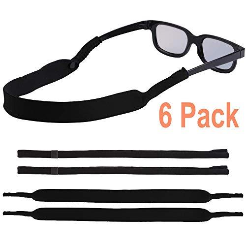 EnriQ Sunglass Straps 2 Kinds of Eyeglass Straps Floating Neoprene Eyewear Retainer Sport Glass Retainer Holder Chains Cords for Men Women (6 Pack) All ()