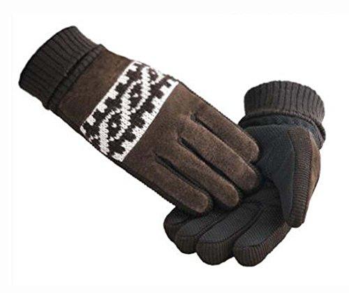 謎値下げ教育するエレガントな厚手の温かい屋外用グローブサイクリング用グローブ(大人用)ユニセックス(フリーサイズ)