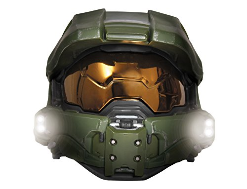 Boy's Halo Game Master Chief Lightup Mask Child Halloween Costume Accessory -