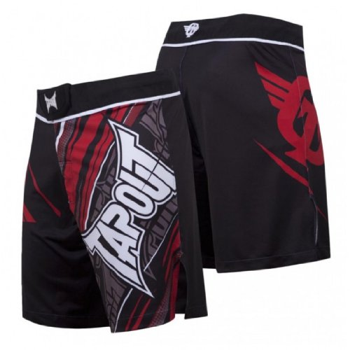 TapouT 4 Way Stretch Performance Fight Shorts (Red)-30 Tapout Shorts