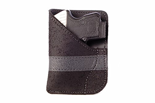 Daltech Force PP2 Small Gun Pocket Holster - Concealed Carry CCW Leather Pocket Gun Holster (Black) ()