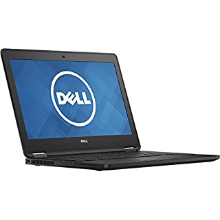 "Dell Latitude E7270 Intel Core i7-6600U 2.6GHz 12.5"" FHD 1080p 8GB 256GB SSD Webcam Black (Certified Refurbished)"