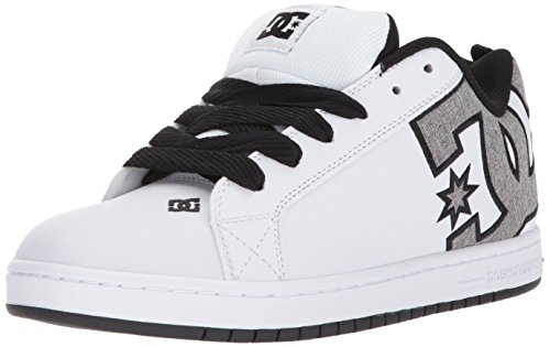 DC Men's Court Graffik SE Skate Shoe, White/Heather Grey, 10 D D US