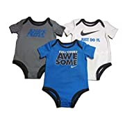 Nike Full Court Awesome Set of 3 Baby Bodysuits 9/12M