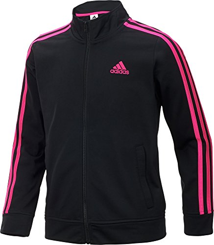 Adidas Big Girls Pursuit Full Zip Striped Jacket
