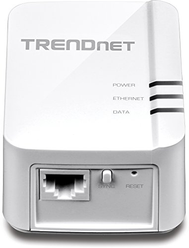 TRENDnet Powerline 1200 AV2 Single Adapter with Gigabit Port, Plug and Play, MIMO, Beamforming, TPL-420E by TRENDnet (Image #1)