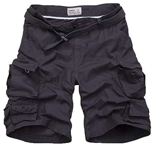 Bolawoo Cargo 77 Camouflage D'été Chic Hommes Base Pantalons Vintage De Chino Shorts Courts Grau Mode Schwarz Loisirs rSfwrq4