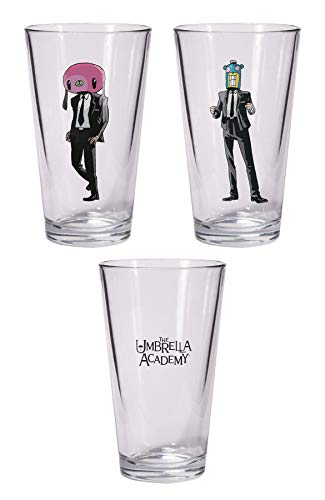 (Dark Horse Deluxe The Umbrella Academy: Hazel & Cha Pint Glass Set)
