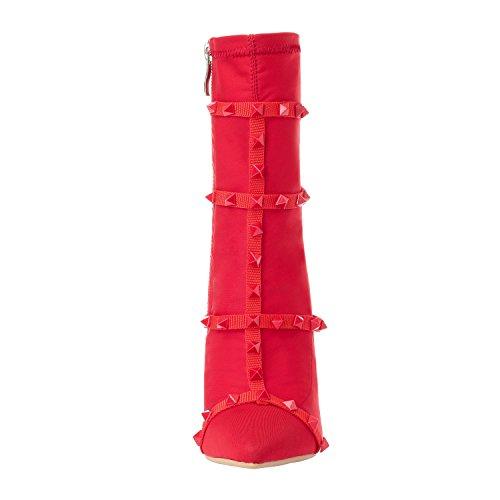 002 Pour Zaproma Bottes Eu Femme 5 Rouge Xue Red 36 155qwtP