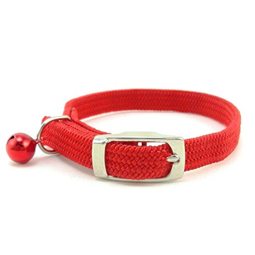 SCOTT Stretch Elastic Nylon Cat Safety Collar with Bell, 10