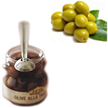 Stainless Steel Olive Spoon,Cherry Spoon With Drain Hole Jar Serving Tools