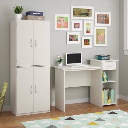 Mainstays Student Desk, White (White) by Toys & Child (Image #4)