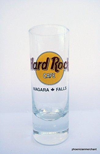 Niagara Falls Canada Hard Rock Cafe Black Circle Cordial Shot - Glasses Falls Niagara