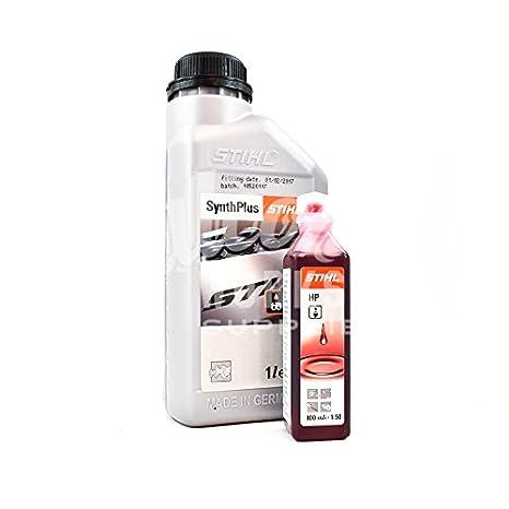 Stihl - Synth Plus - Cadena de motosierra de aceite 1 L + One Shot 100 ml Aceites: Amazon.es: Coche y moto
