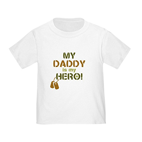 CafePress Dog Tag Hero Daddy Cute Toddler T-Shirt, 100% Cotton White