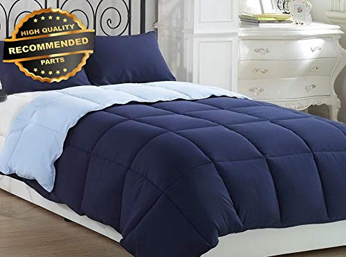 Gatton Premium New 3pcs vy Light Blue ReversibSuper Soft Down Altertive Comforter Set Queen | Style Collection Comforter-311012340
