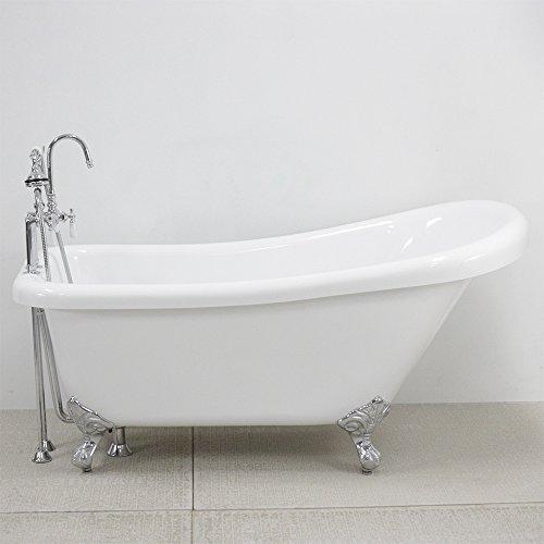 Acrylic Slipper Clawfoot Bathtub - 5