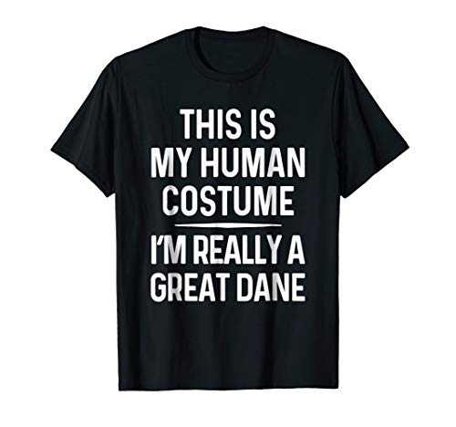 Funny Great Dane Costume Shirt Halloween Great Dane Tshirt