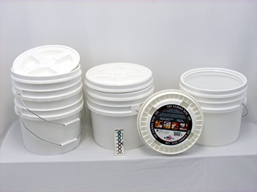 Bucket Kit, Four 3.5 Gallon Buckets with White Gamma Seals
