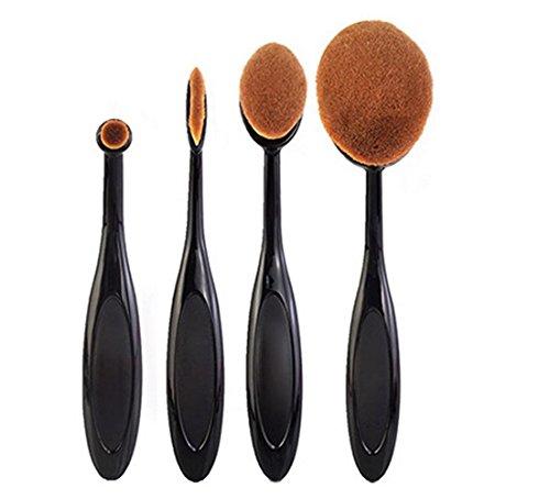 Ularma-4PcsSet-Toothbrush-Shape-Eyebrow-Makeup-Foundation-Brush-Powder-Brush-Kits