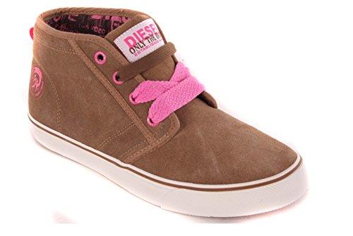 Diesel Zapatillas para mujer de cordones de zapatos subbituminoso #19