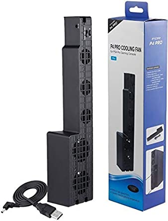 WiCareYo Ventilador de Refrigeración de 5 Ventiladores Super Cooling Ventilador de Refrigeración para PS4 Pro 4 ...