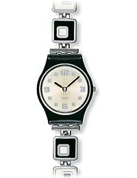 LB160G chessboard white dial stainless steel bracelet women watch NEW