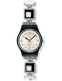 Swatch Women's Originals LB160G Silver/Black Stainless-Steel Swiss Quartz Watch