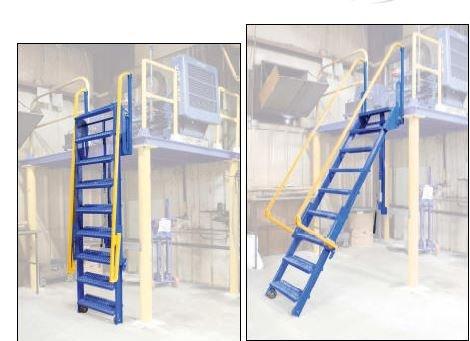 Vestil Mfg Co Folding Mezzanine Ladders Ml 9step Of