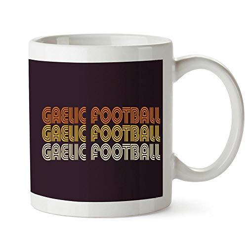 Idakoos Gaelic Football RETRO COLOR Mug 11 ounces