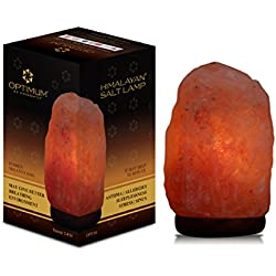 "Himalayan Rock Salt Crystal Lamp, UL Listed Dimmer Cord, Table Lamp for Decoration, Bedroom Night Light, Desk Lamp with Natural Healing & Ionizing Benefits (5"" - 7"")"