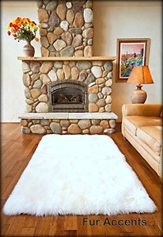 Amazon Com Fur Accents White Faux Sheepskin Area Rug Ultra Suede